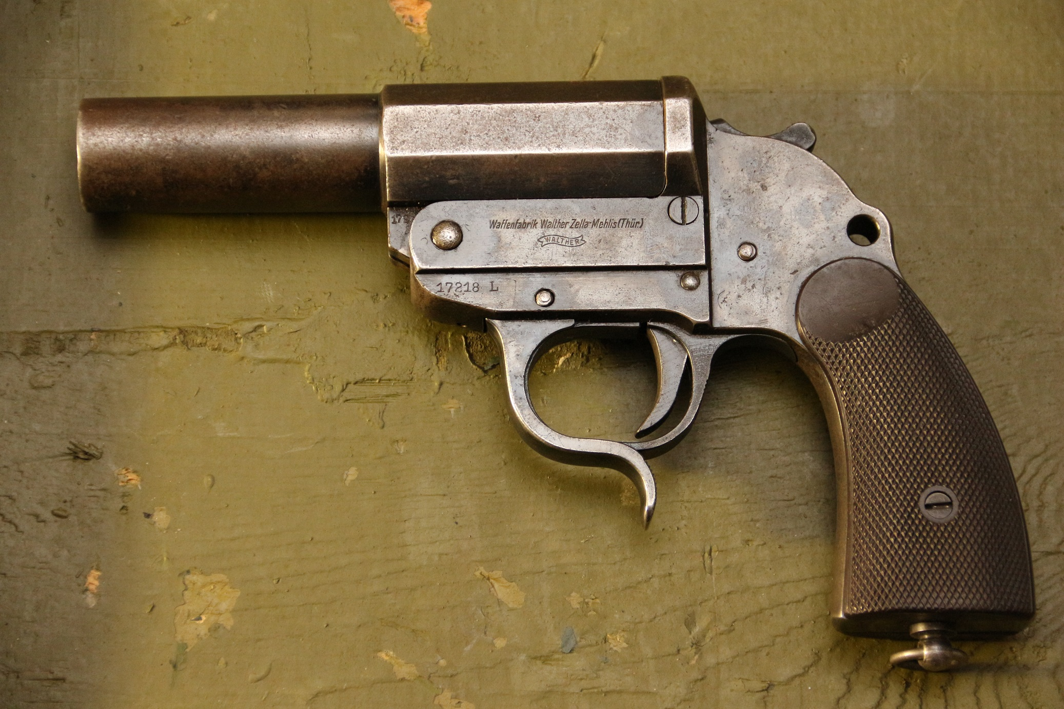Ракетница Walther LP-34  #17218l, стальная, коллекционное состояние