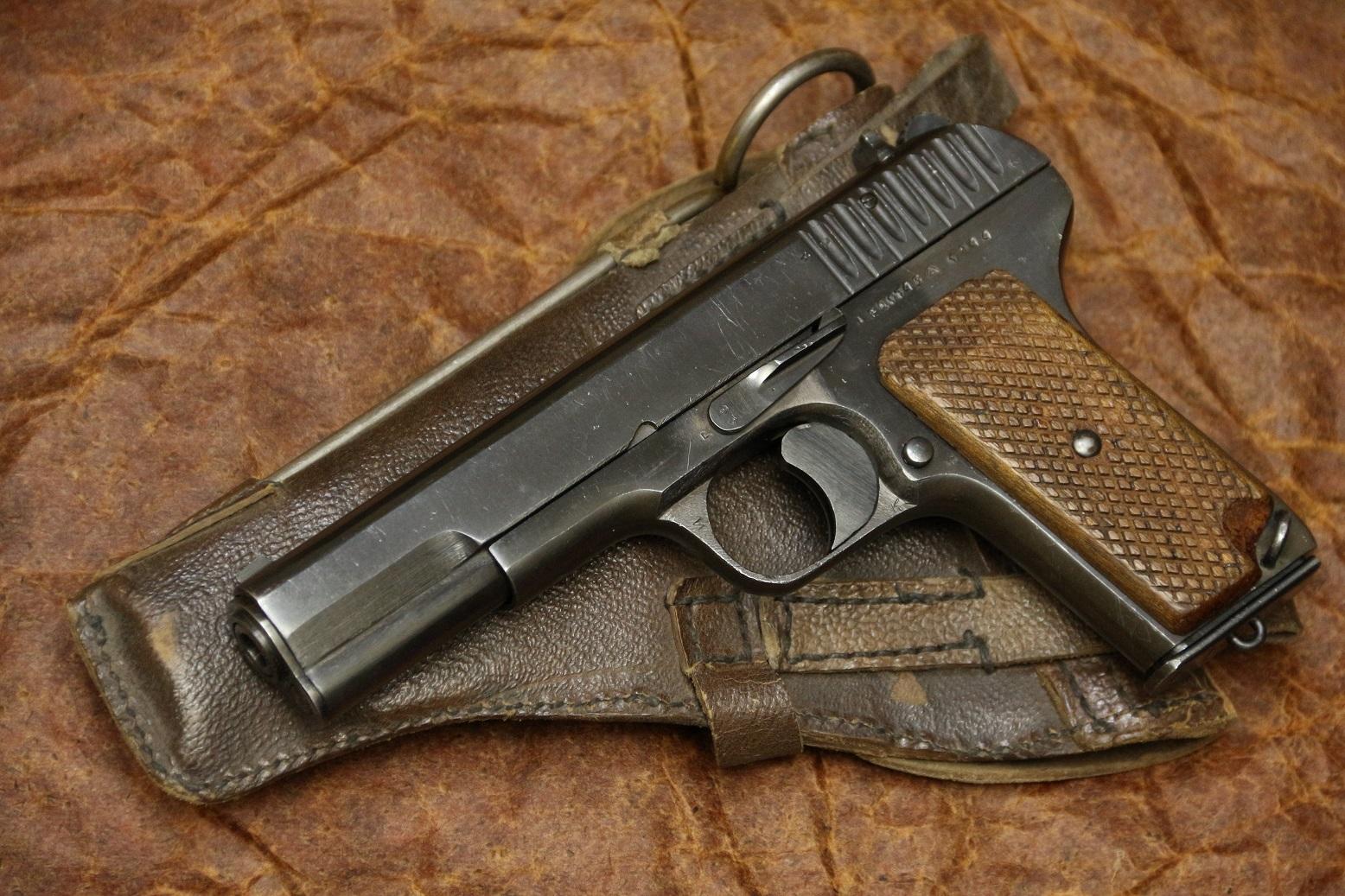 Фото Охолощенный пистолет ТТ-СХ 1944 года, №ЕД1746, комплект