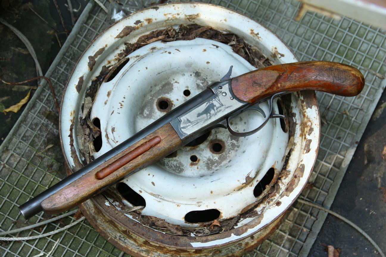 Охолощенный обрез ружья ИЖ-17, завод Молот