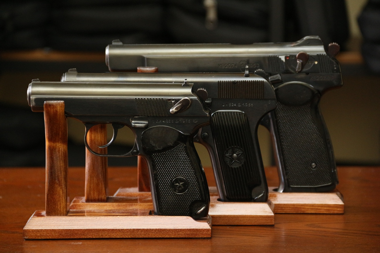 Коллекционный лот: охолощенные пистолеты АПС, ПМ, ТТ 1953 года
