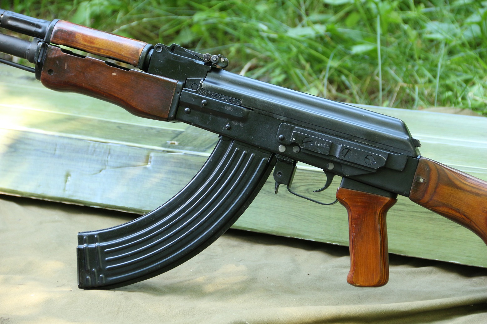 Фото Охолощенный пулемет Калашникова РПКН ВПО-926 1974 года, №КК5504, номерной