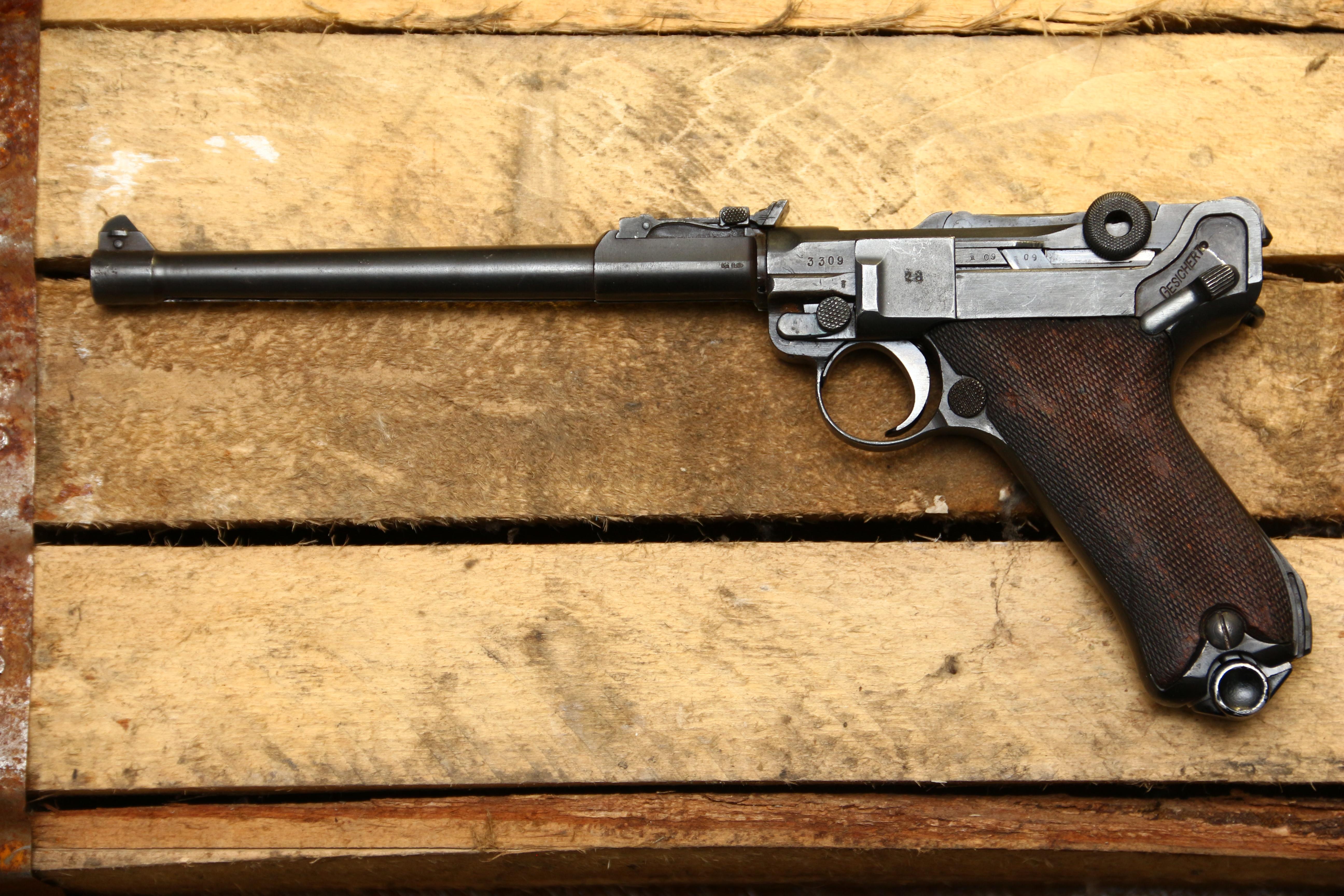 Фото Пистолет Luger Parabellum P-08 «Артиллерист» 1914 год, завод ERFURT