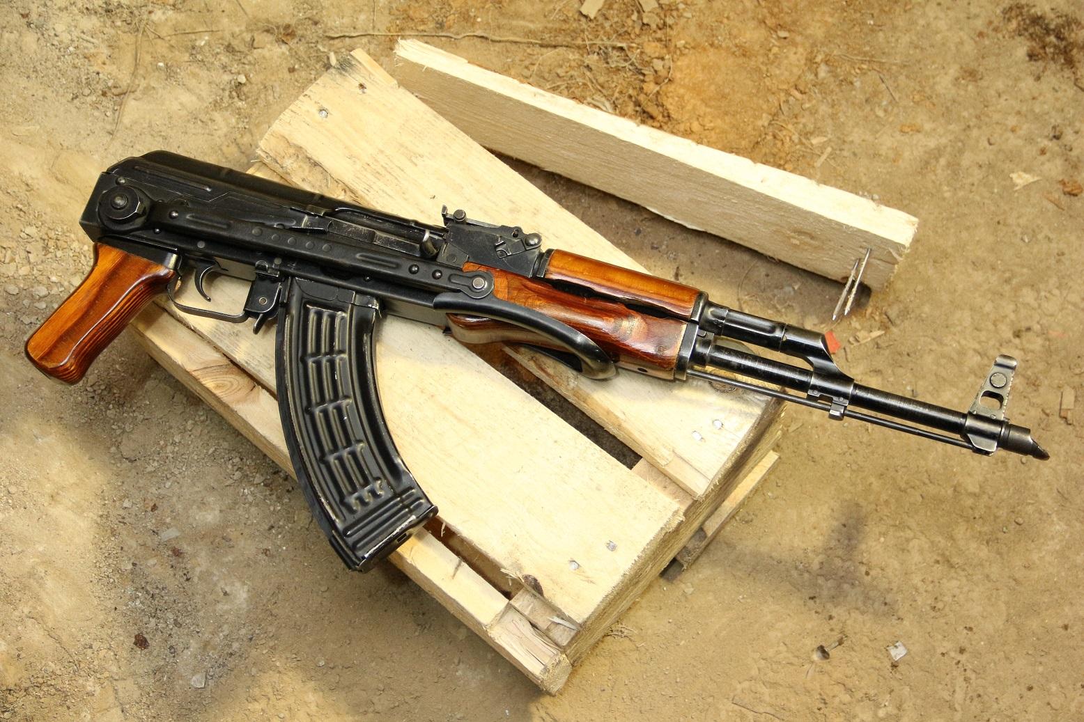 Оригинальный афганский АКМС 1964 года, №ЕР1155