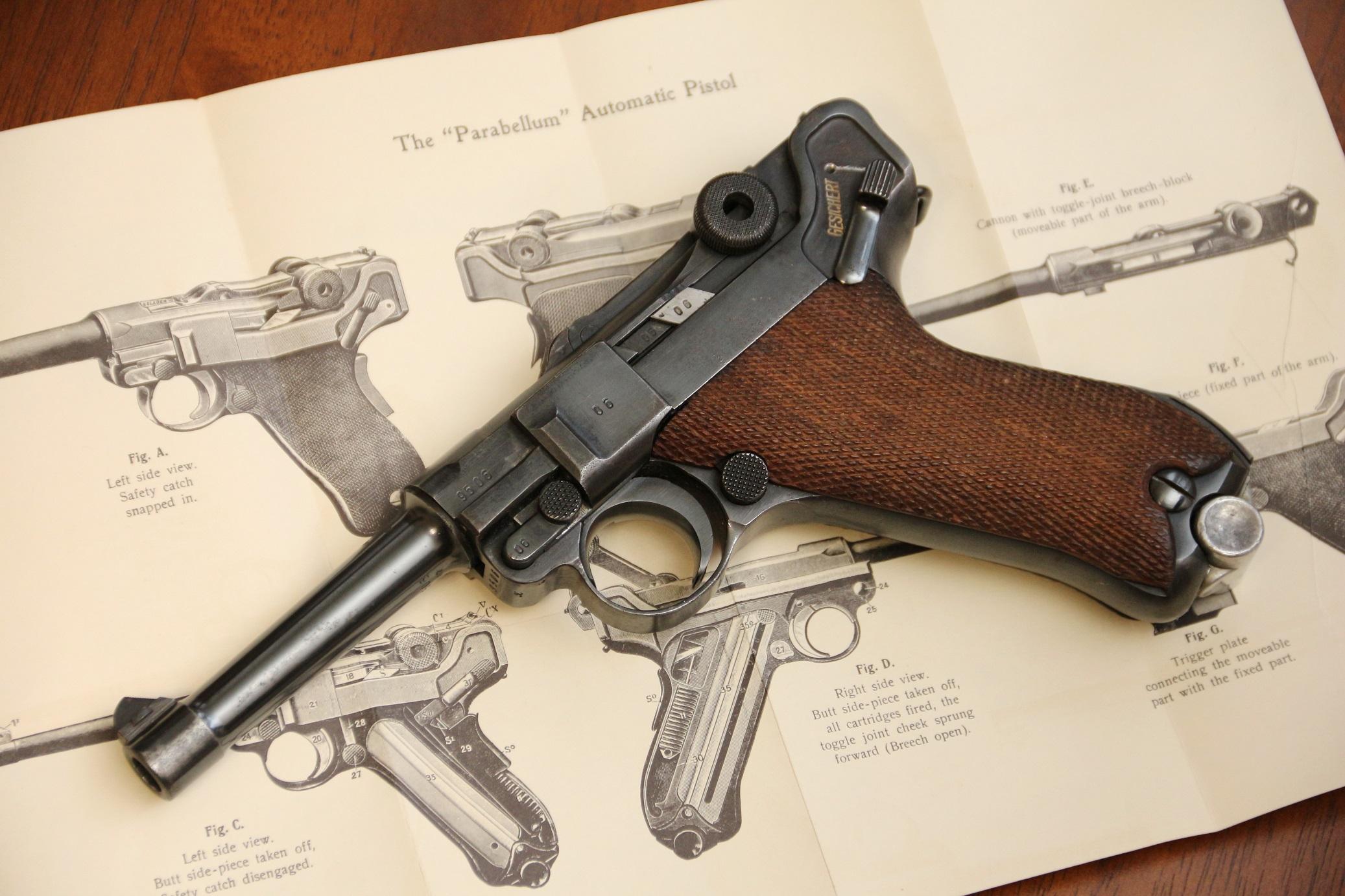 Фото Пистолет Luger P08 Люгер Парабеллум P-08 #9506 1939 года, коллекционное состояние