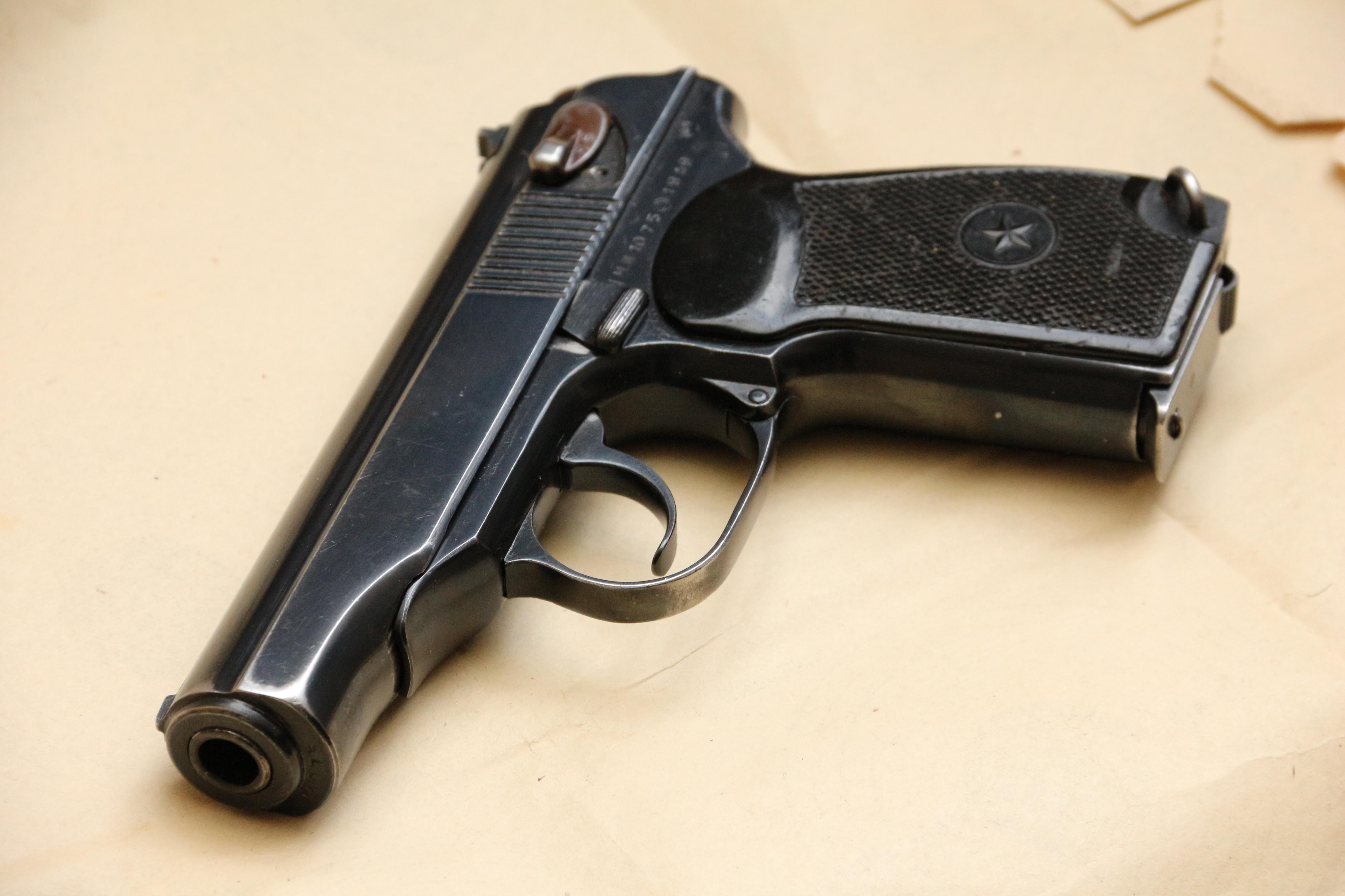Фото Охолощенный пистолет Макарова ПМ-О 1949 года №МП1075