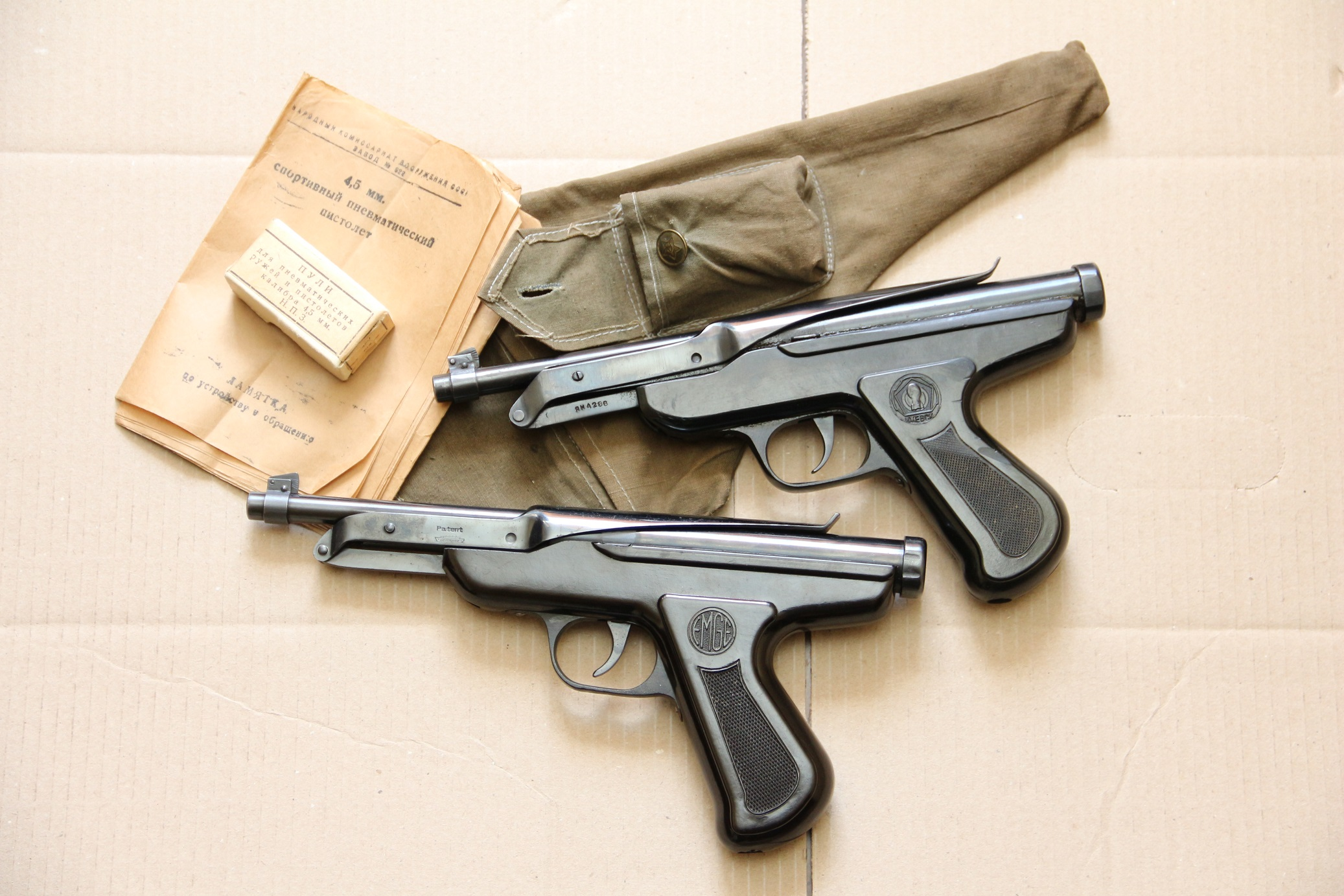 Немецкий Zenit 1937 года и ижевский СПП ИЖ-45 1945 года, оба в люксе, копирайт СССР
