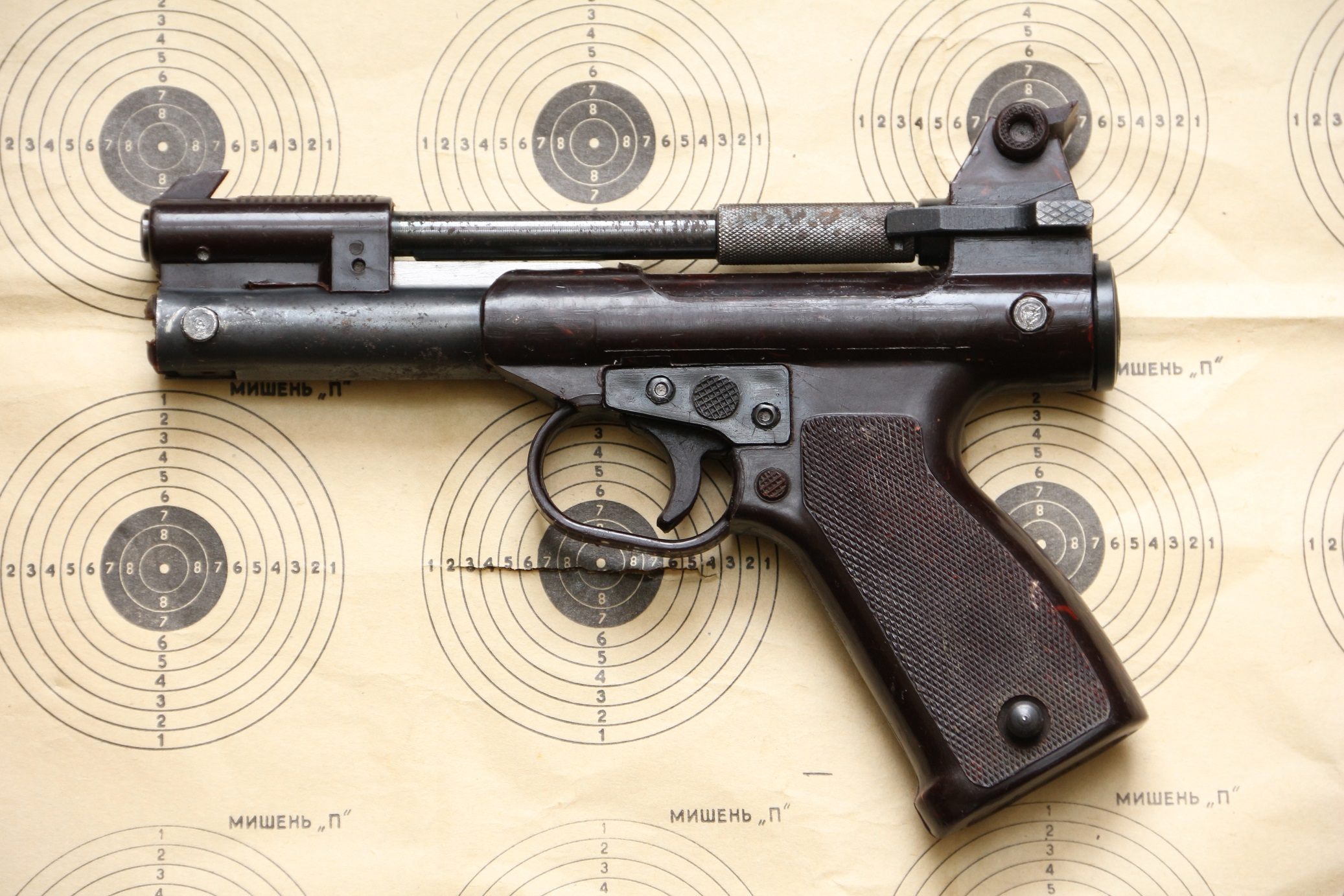 Пневматический пистолет ПП-М. 74 «Балтиец», №ГО3508, СССР