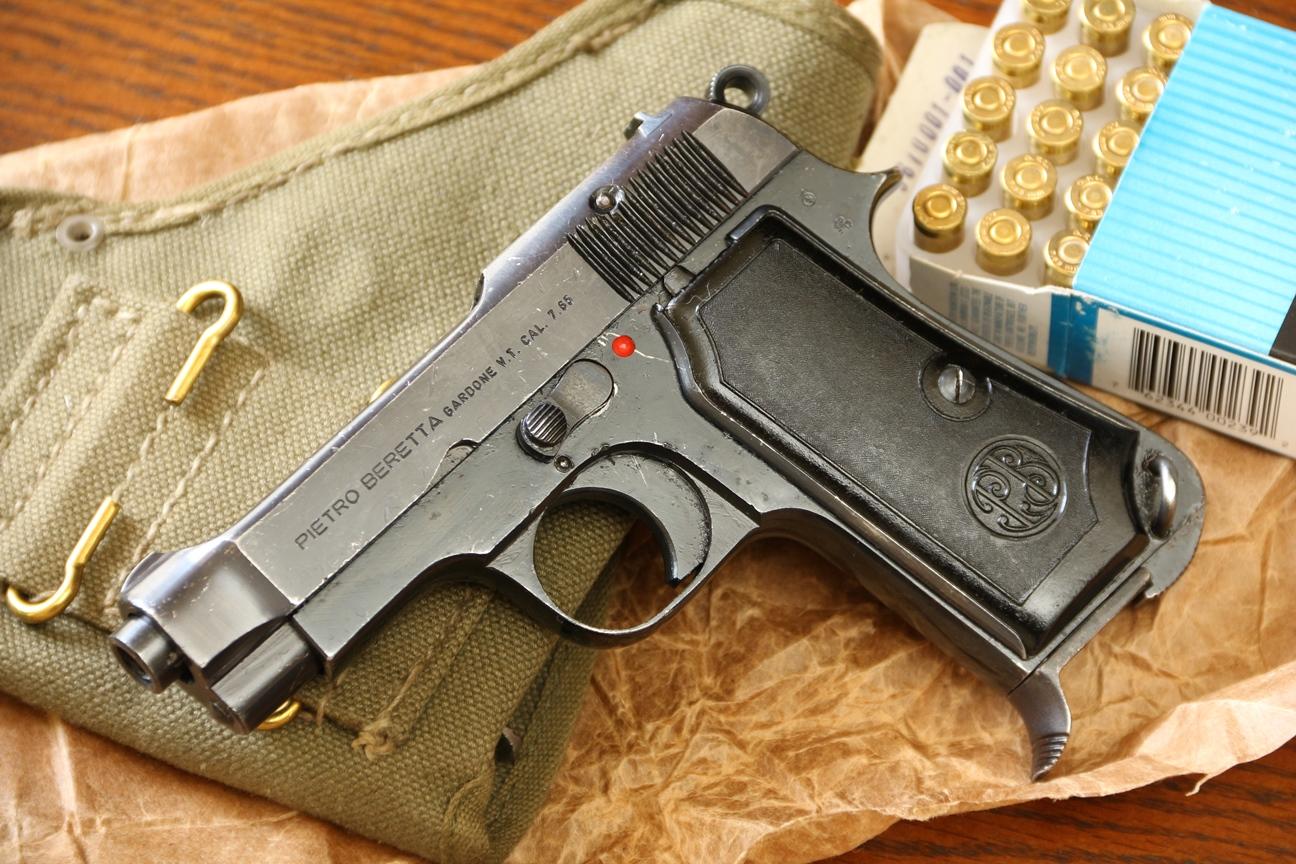 Фото Охолощенный пистолет Beretta M35 #633101, с кобурой, вторым магазином