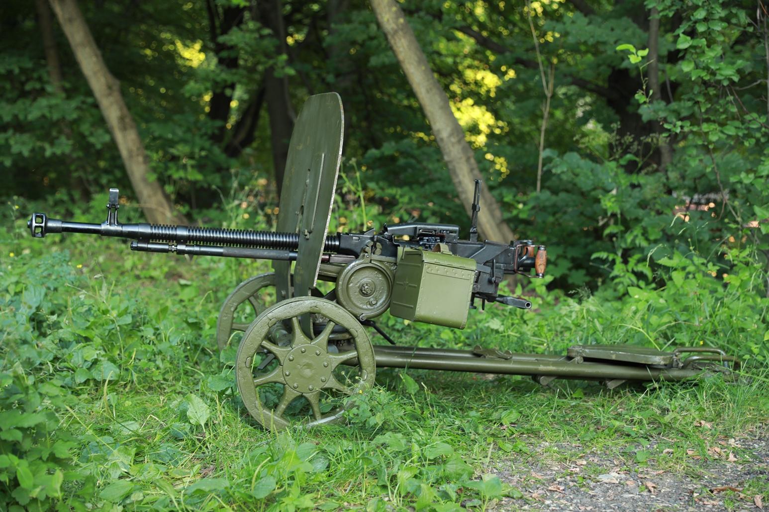 Станковый пулемет ДШКМ 1970 года №Я621, комплектный станок 1943 года №ЖТ572