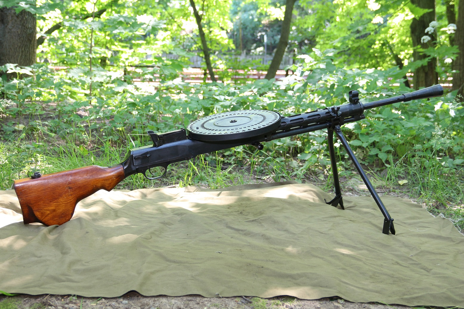 Фото Охолощенный пулемет ДП-27 1941 года, №ЧК112