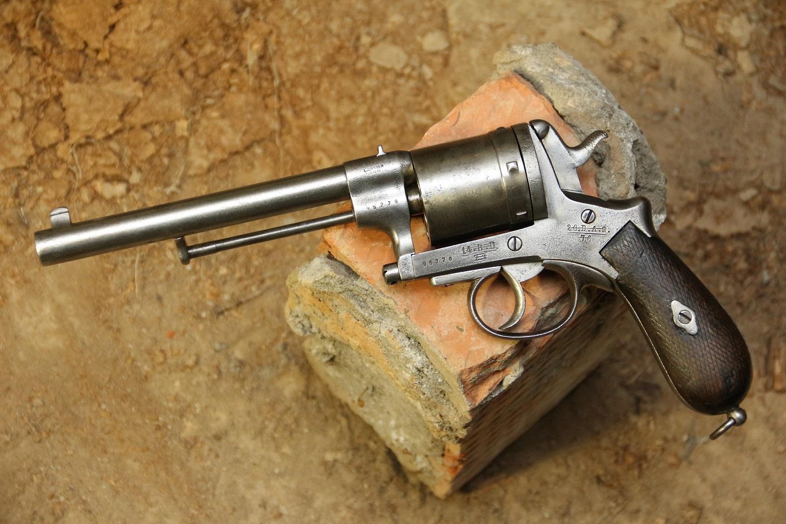 Фото Армейский револьвер Gasser m1870 #98770, с историей