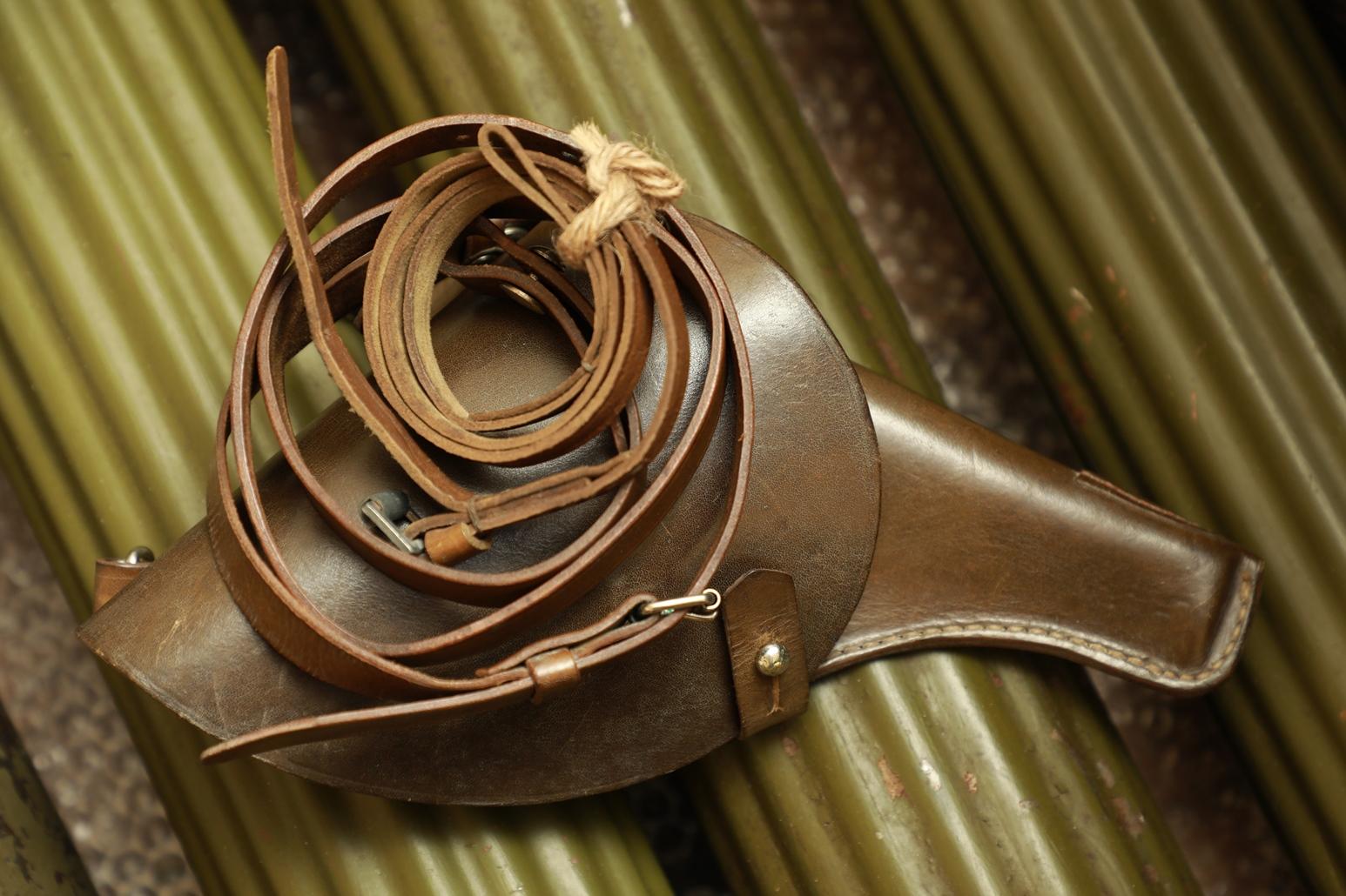 Кобура к револьверу Наган, конец 30-х, плечевой ремень, тренчик, склад