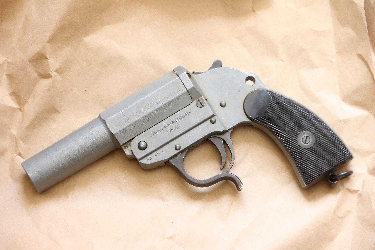 Ракетница Walther LP-34, #53363, 1943 год, цинковая, очень редкая