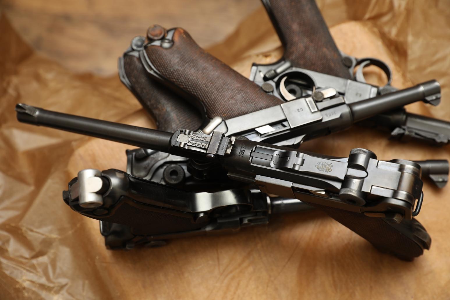 Пистолет Luger Parabellum P-08 «Артиллерист» 1917 год