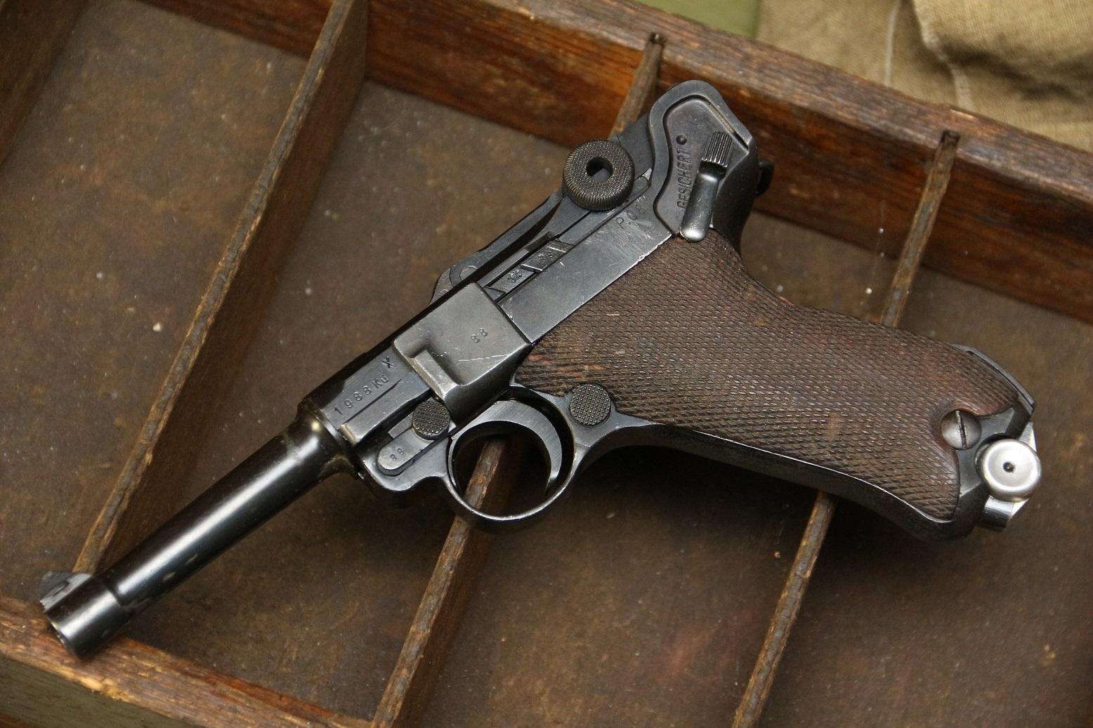 Фото Пистолет Luger P08 1941 года, №1988, Ku code - Люфтваффе, очень редкий