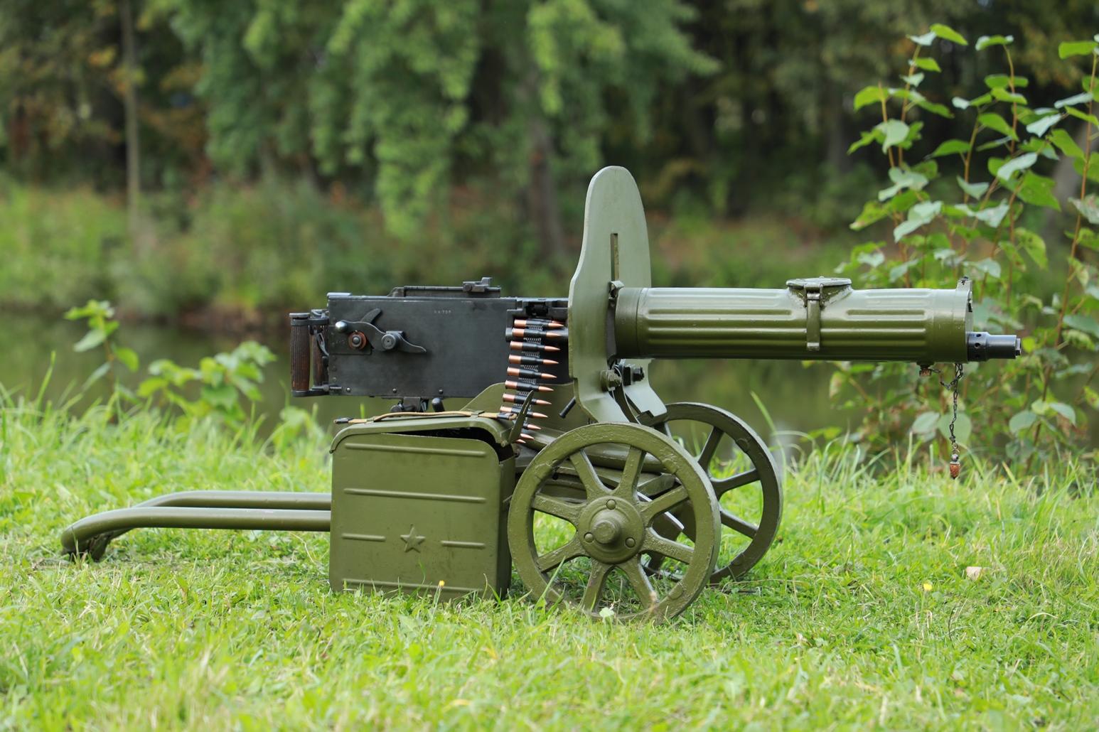 Пулемет Максим 1943 года №АК709, ранний станок