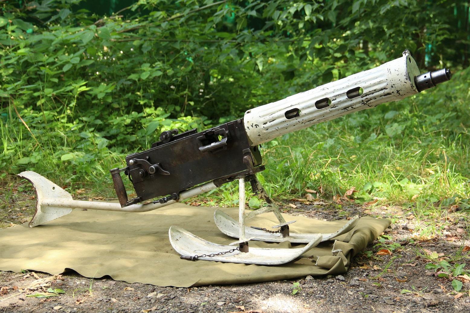 Пулемет Максим 1938 года, №ПУ13, герой советско-финской войны, ww2