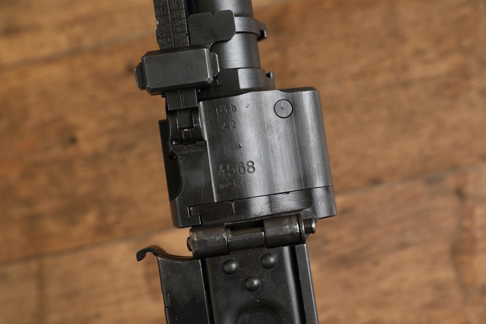 Охолощенный немецкий пулемет MG-34, #4568, 1942 год, завод dfb