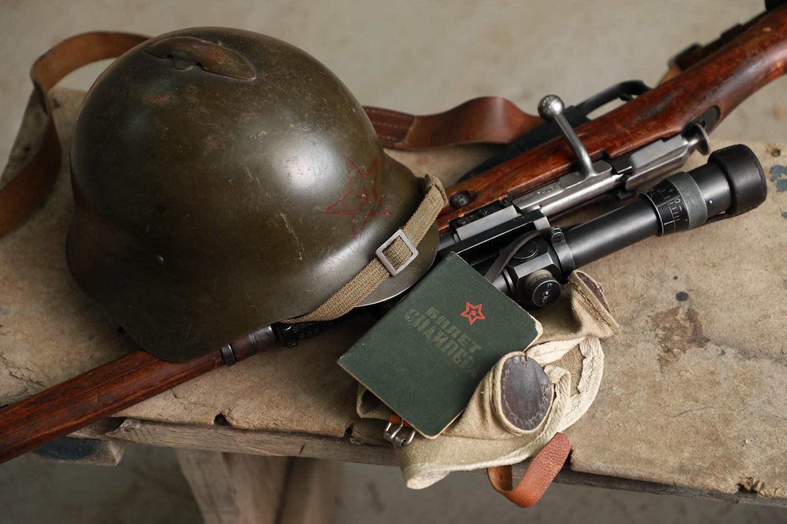 Снайперская винтовка Мосина 1936 года, №134294, кронштейн Смирнского, прицел ПЕ; УНИКАЛЬНО!