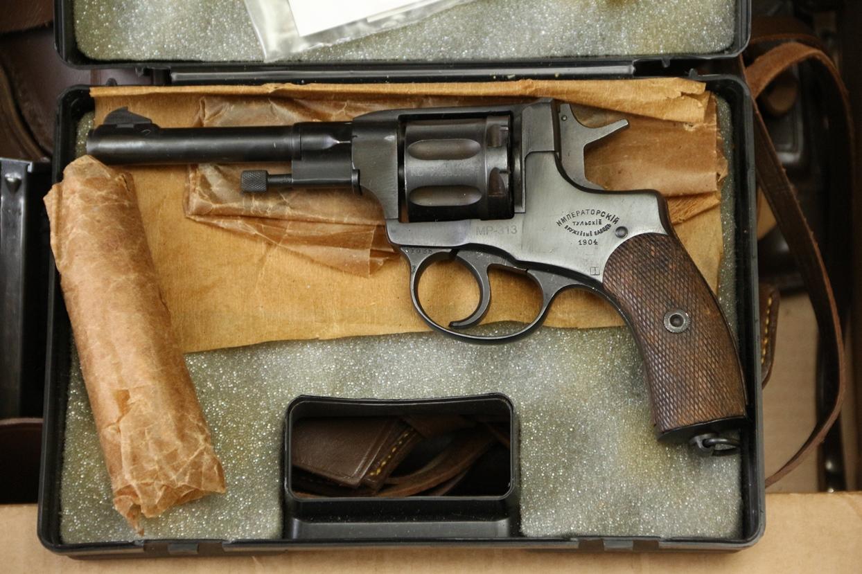 Фото Сигнальный револьвер Наган МР-313, 1904 год, №093131275