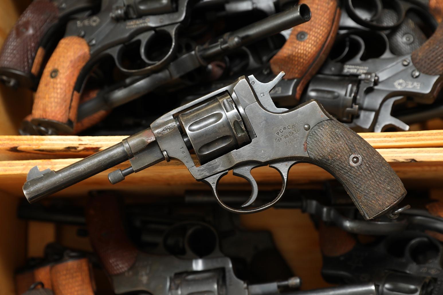 Фото Сигнальный револьвер Наган Блеф 1922 года №8091