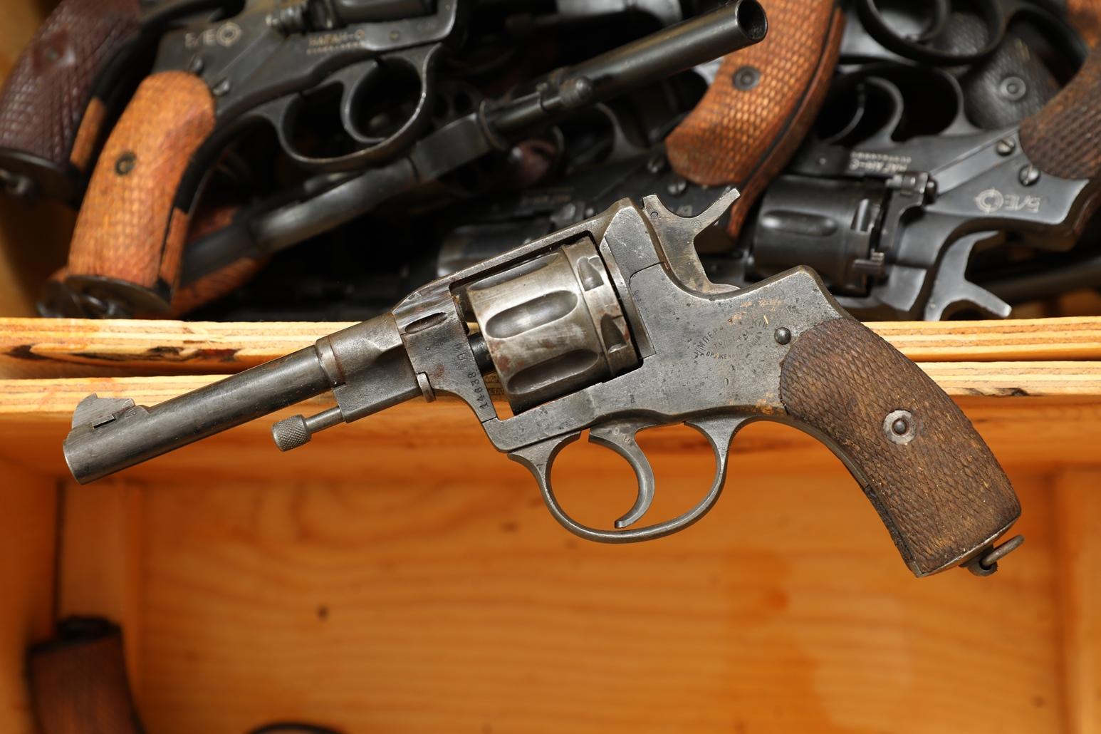 Сигнальный револьвер Наган Блеф 1908 года №14638
