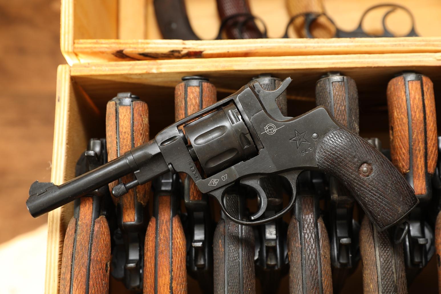 Сигнальный револьвер Наган Блеф 1943 года №ХВ140