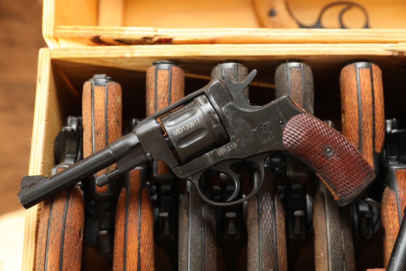Сигнальный револьвер Наган МР-313 1943 года №083130617