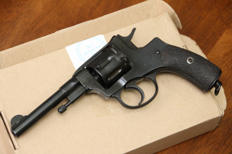 Фото Охолощенный револьвер Наган 1927 года, №8378