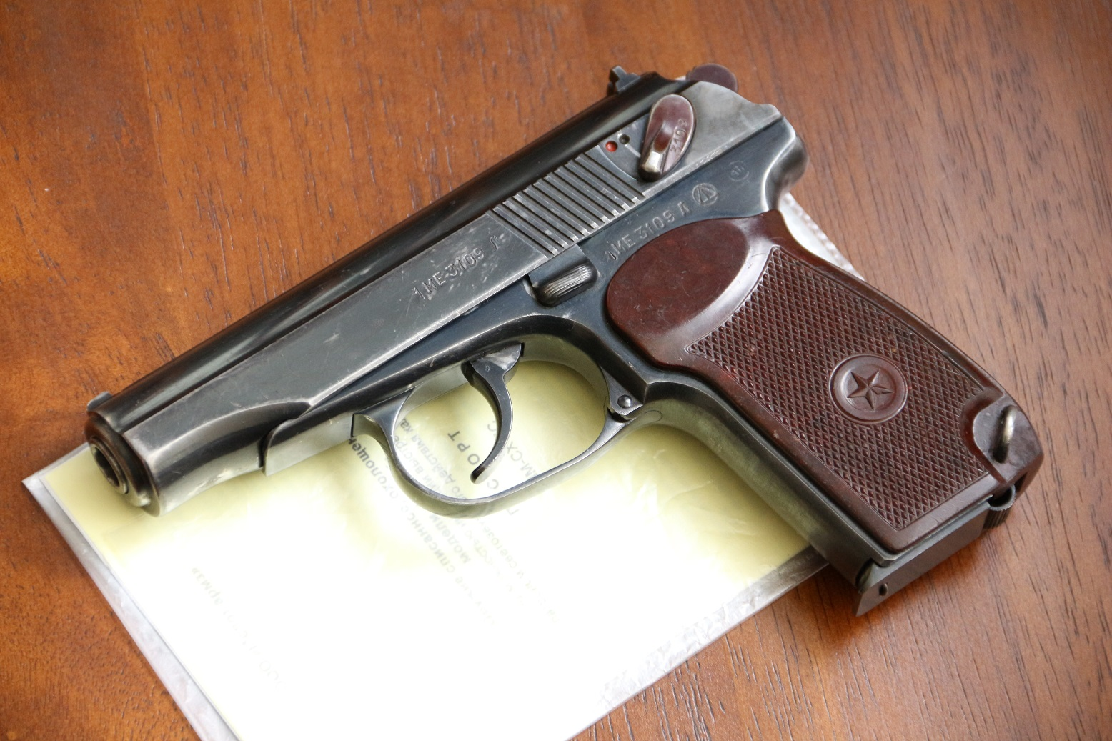 Фото Охолощенный пистолет Макарова ПМ-СХ 1956 года №МЕ 3109 Л