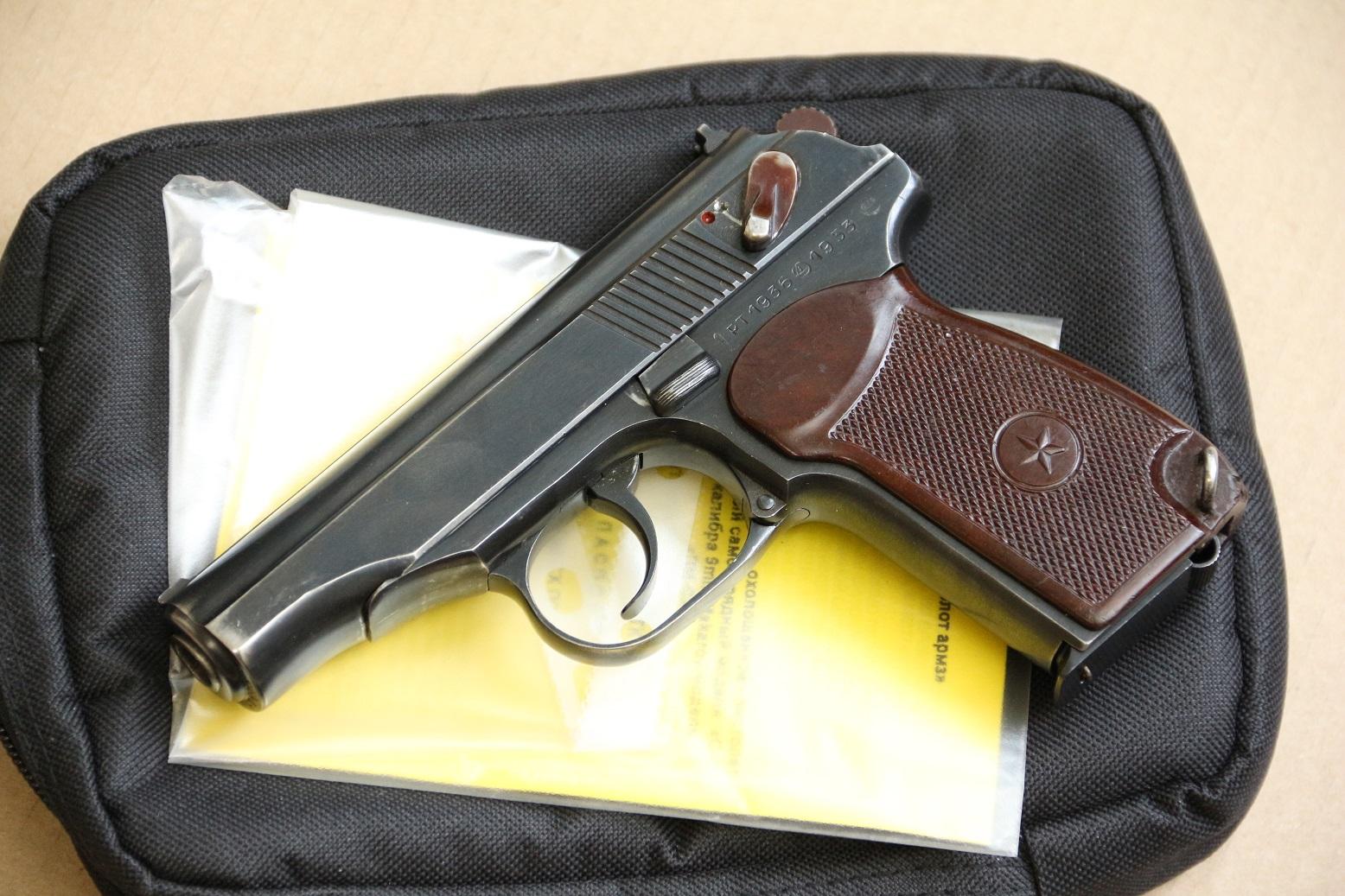 Фото Охолощенный пистолет Макарова ПМ-СХ 1953 года, №РТ 1936, деактив 2020 года