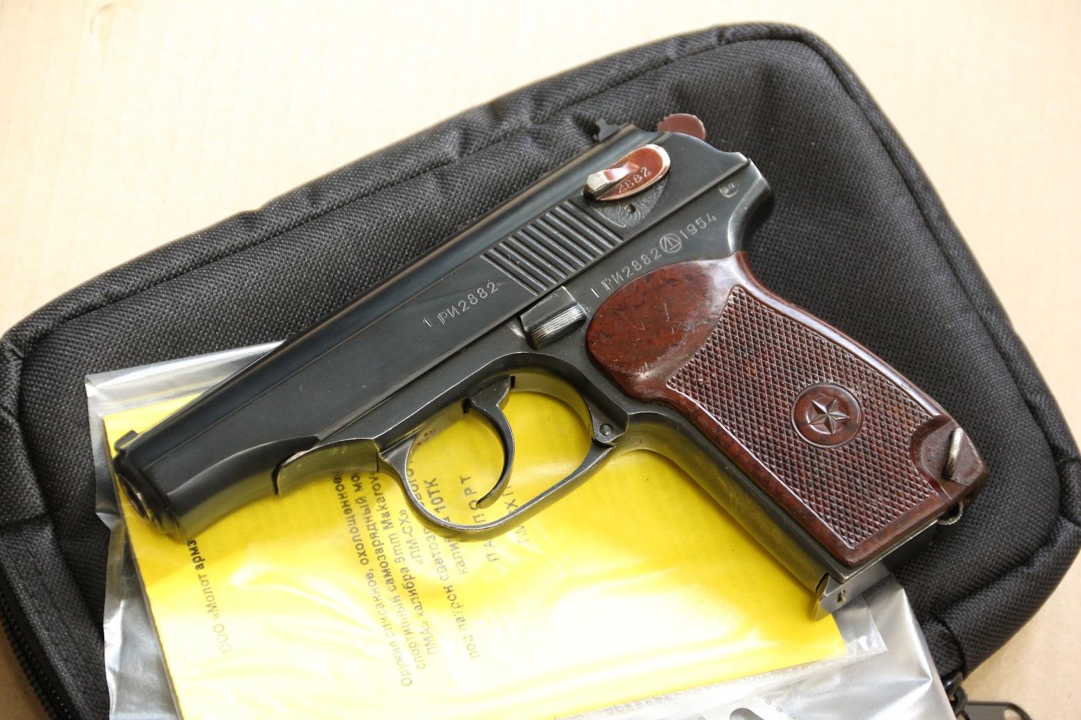Охолощенный пистолет Макарова ПМ-СХ 1954 года, №РИ 2882, деактив 2020 года