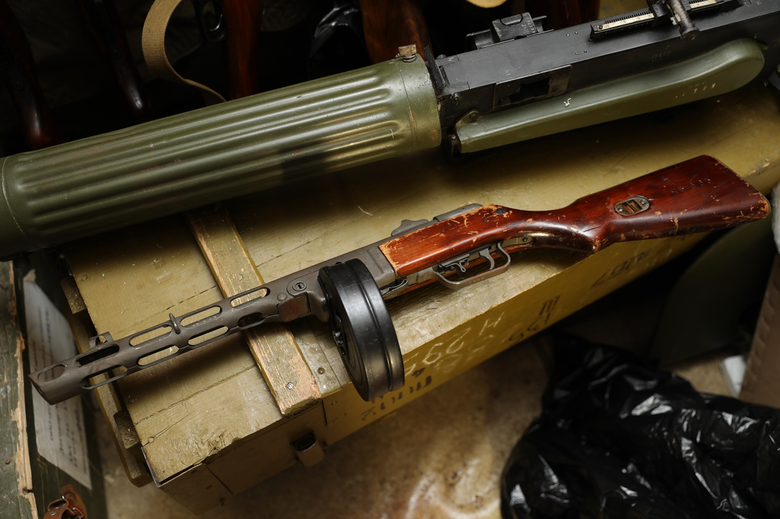 Фото Пистолет-пулемет ППШ 194Х год, №ЯБ 663