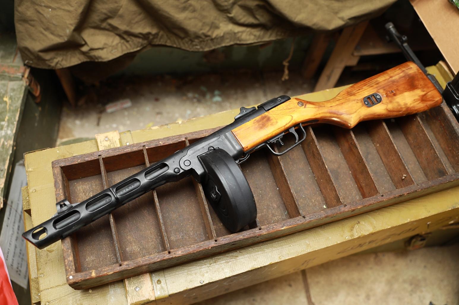 Фото Пистолет-пулемет Шпагина ППШ 1944 года, №БП2419