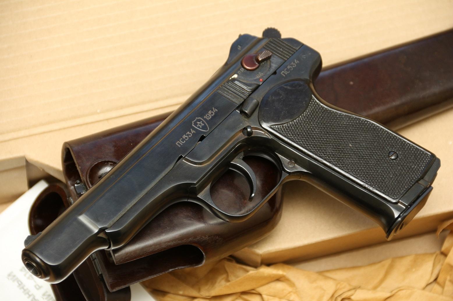 Охолощенный пистолет Стечкина АПС Р414 1954 год, №ПС534