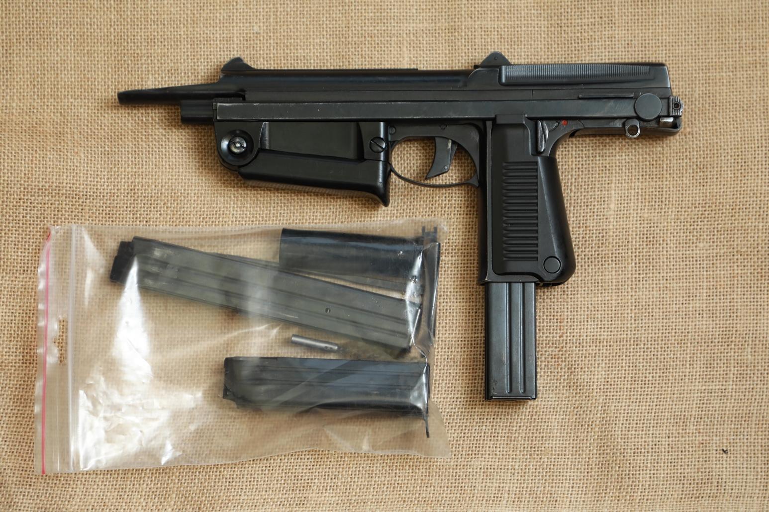 Фото Охолощенный пистолет-пулемет RAK-63 #АМ 10504 1969 год, 1 категория