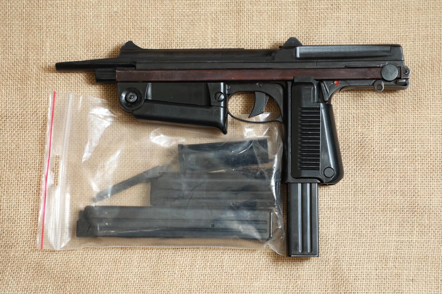 Фото Охолощенный пистолет-пулемет RAK-63 #M 07801 1970 год, 1 категория