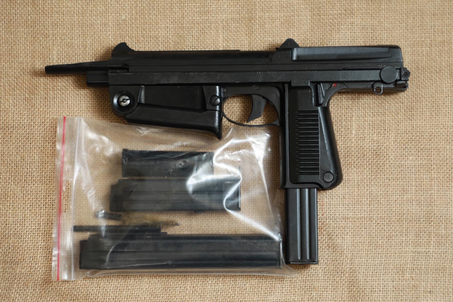 Фото Охолощенный пистолет-пулемет RAK-63 #AM 12541 1969 год, 1 категория