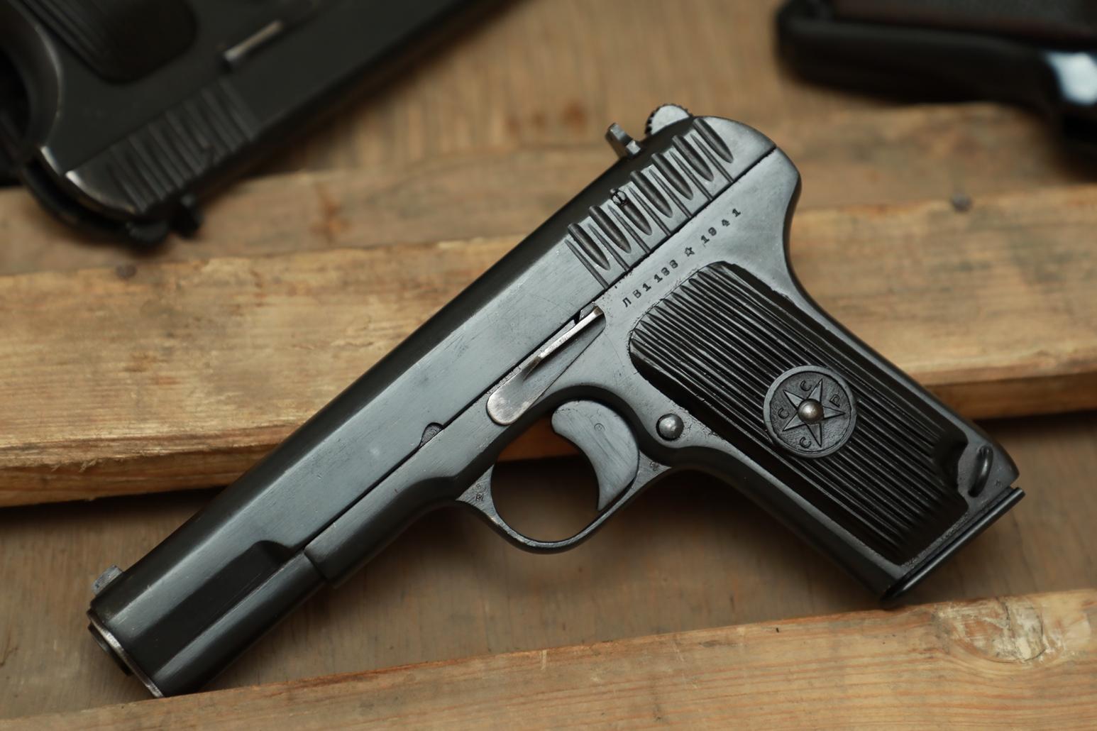 Фото Охолощенный пистолет ТТ 1941 года №ЛВ 1188