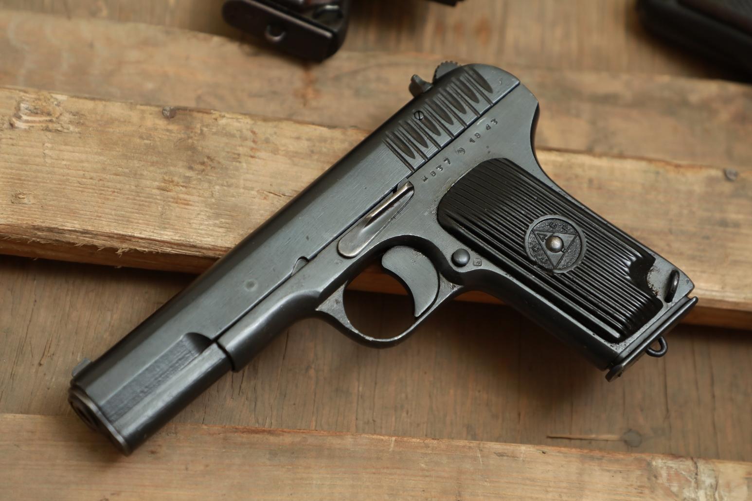 Фото Охолощенный пистолет ТТ 1943 года №ЖВ 37