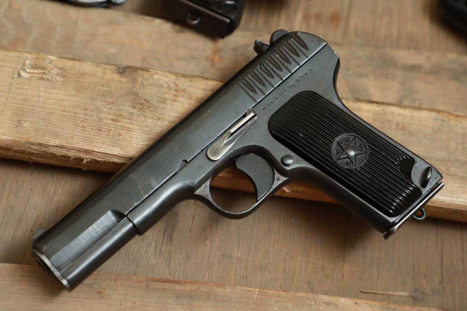 Фото Охолощенный пистолет ТТ 1943 года №ЖБ 5498