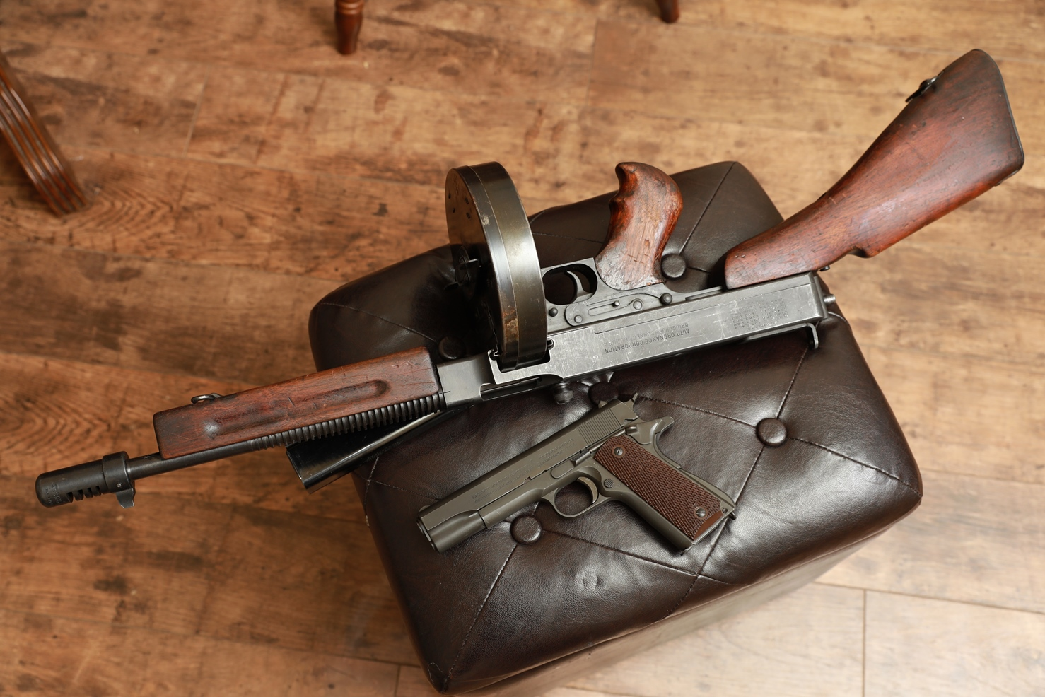 Фото  Пистолет-пулемет Томпсон 1928а1 №417091, ребристый