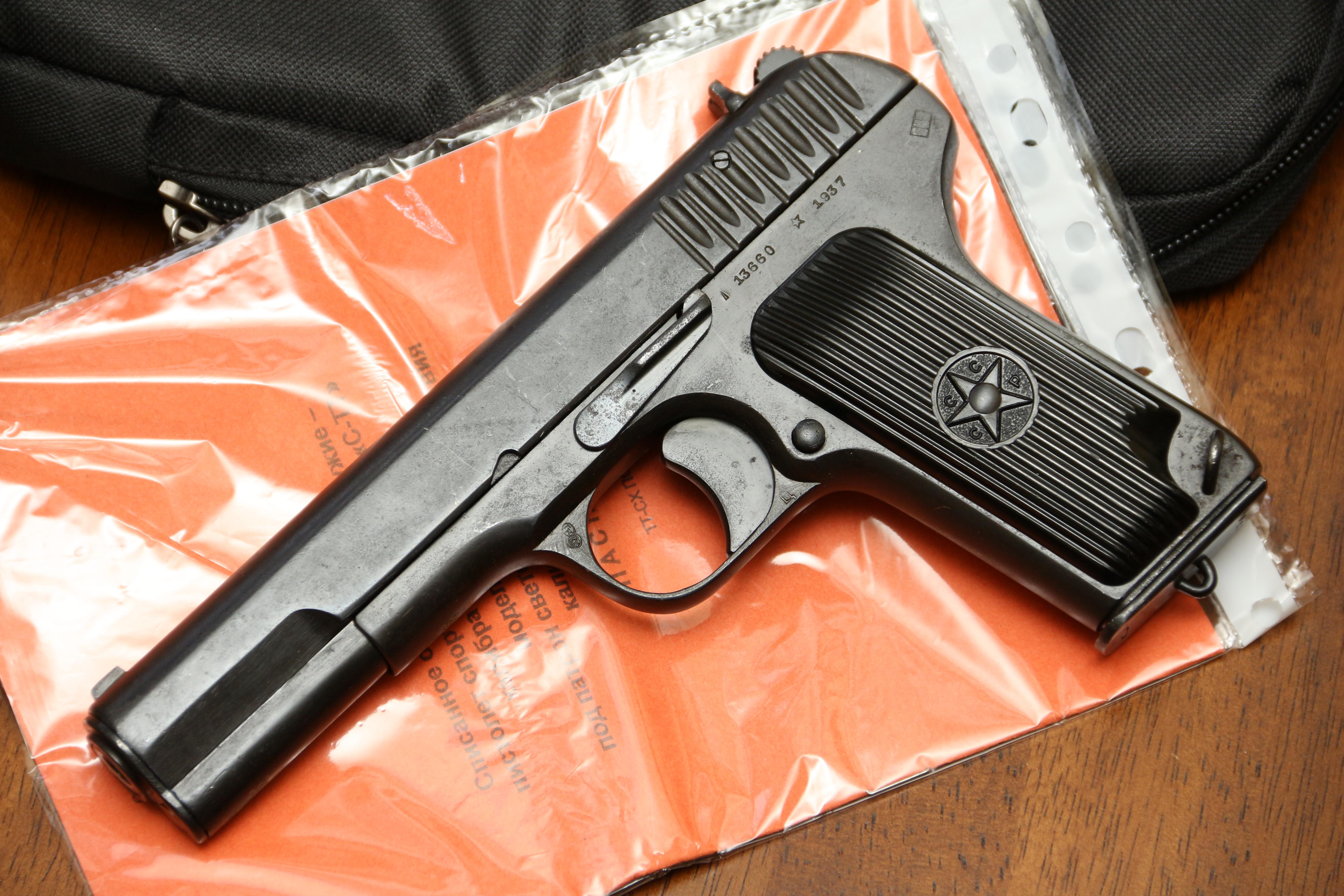 Фото Охолощенный пистолет ТТ-СХ 1937 года, №13660