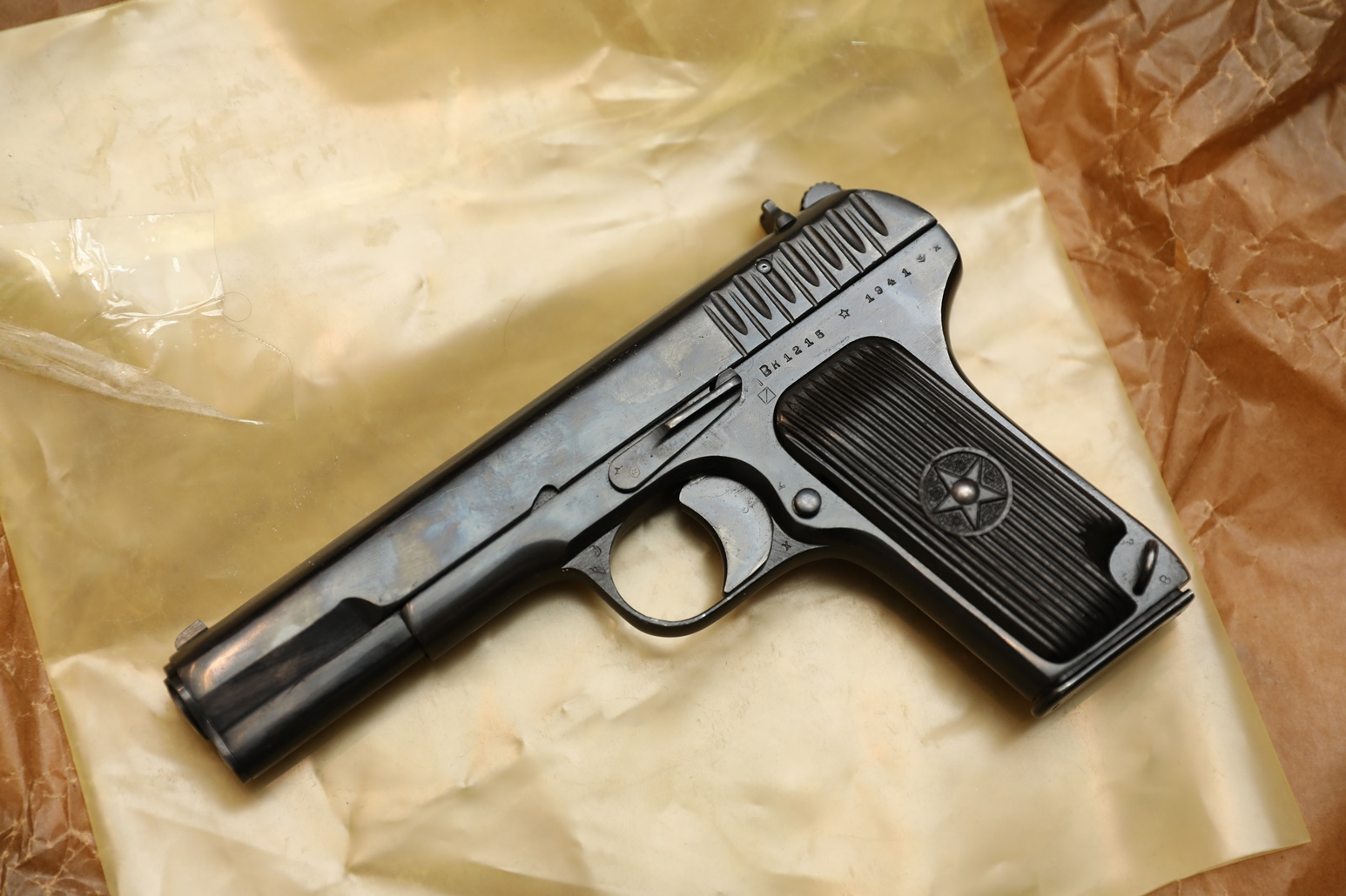 Фото Охолощенный пистолет ТТ-СХ 1941 года, №ВК1215