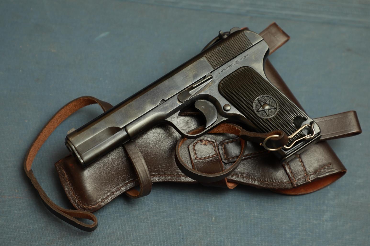 Фото Охолощенный пистолет ТТ-СХ 1951 года №ИЖ1505