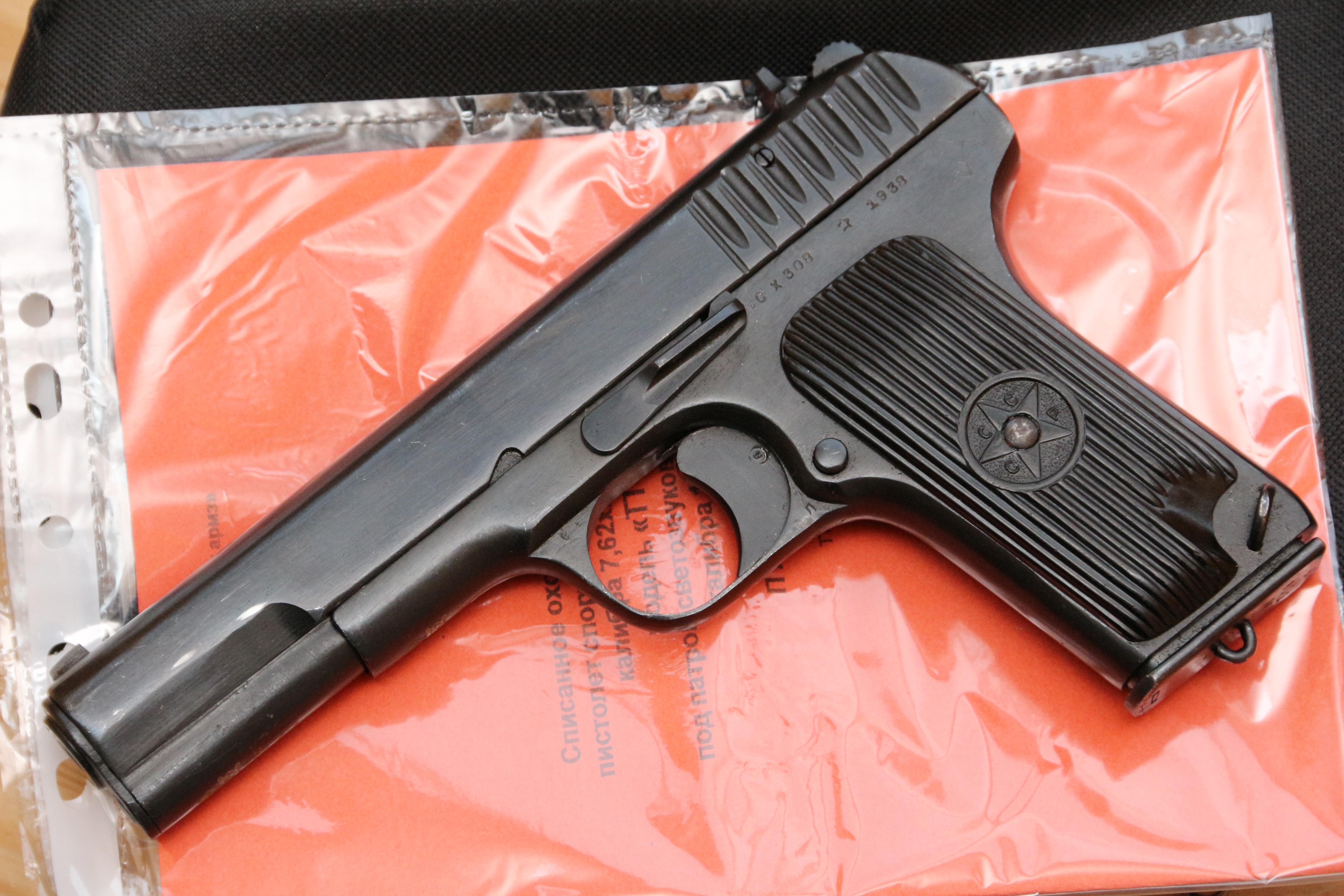 Охолощенный пистолет ТТ-СХ 1938 года №СХ308