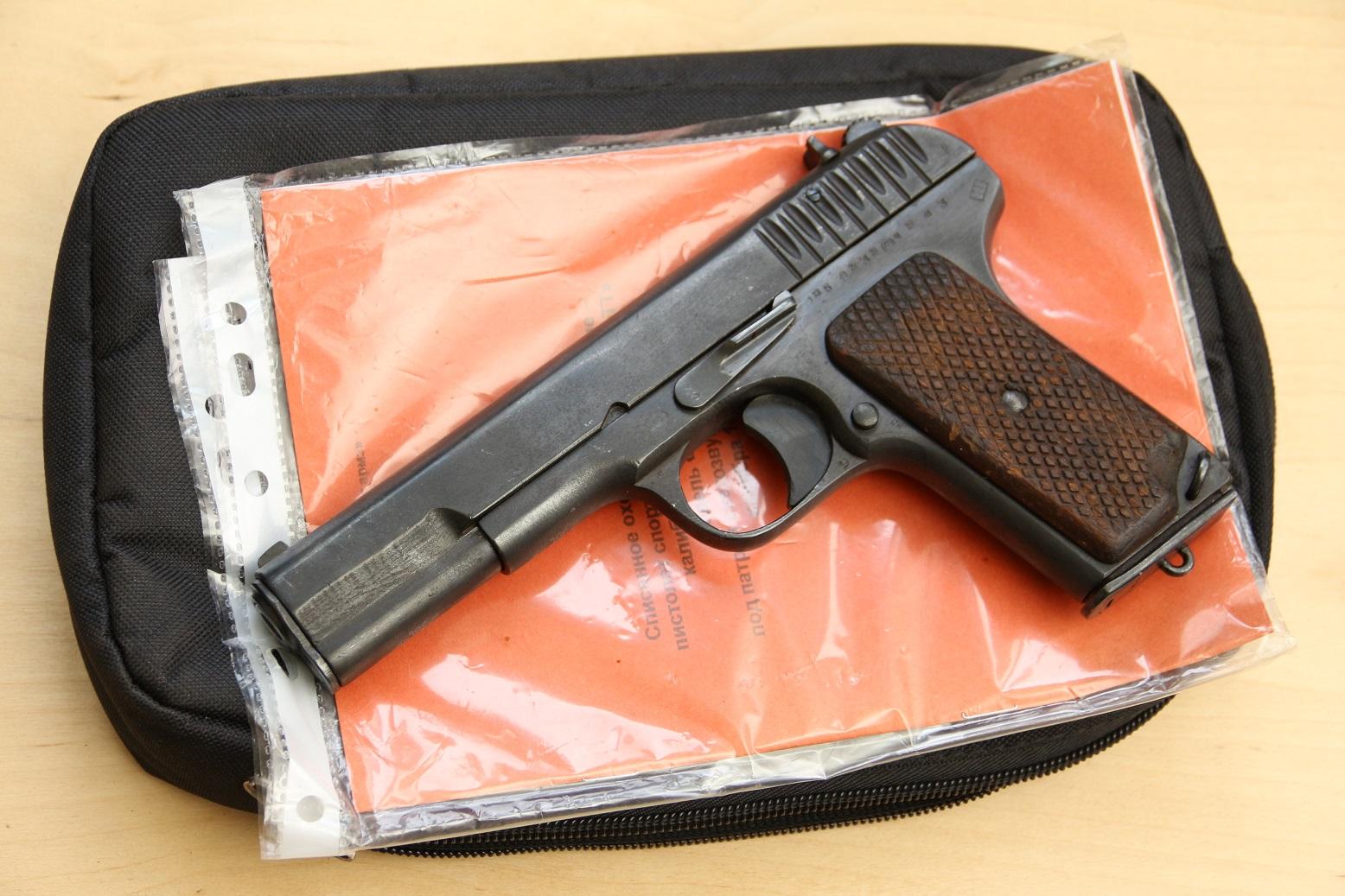Фото Охолощенный пистолет ТТ-СХ 1943 года, №ЖБ4939, не шлифован
