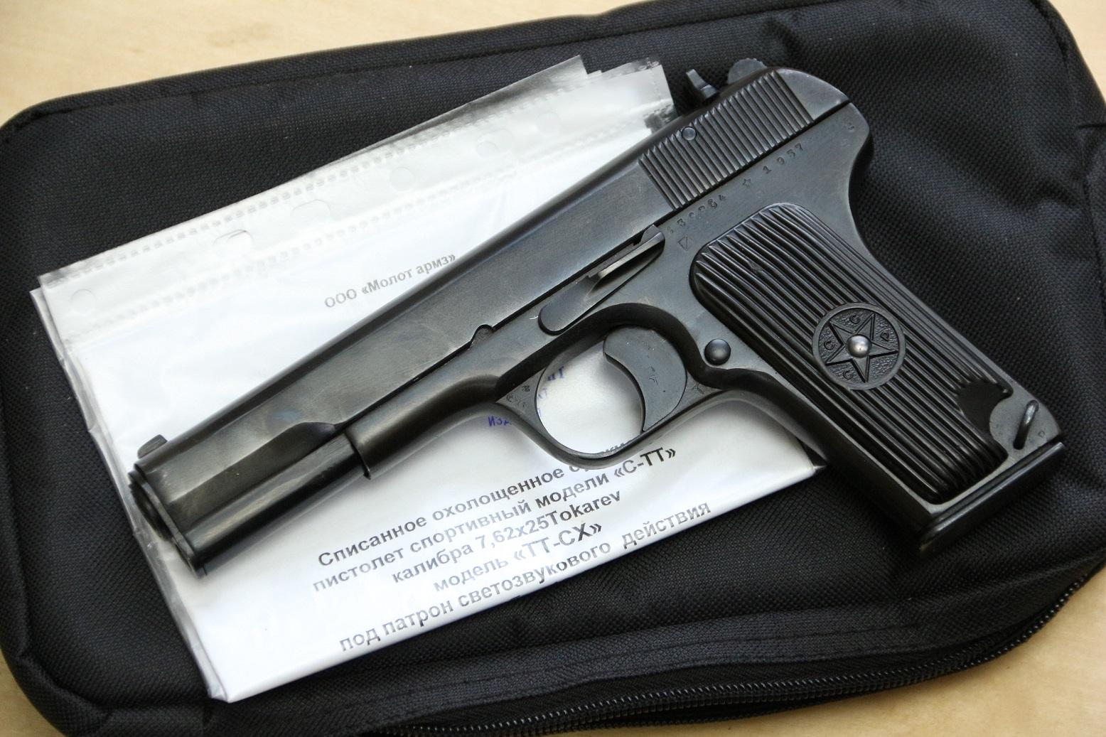 Охолощенный пистолет ТТ-СХ 1937 года №36864, НОВЫЙ ДЕАКТИВ 2020 года