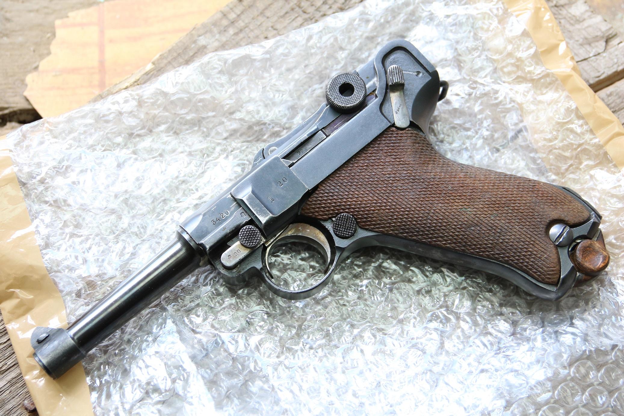 Фото Пистолет Люгер Парабеллум P-08, ERFURT 1918 год, №3420